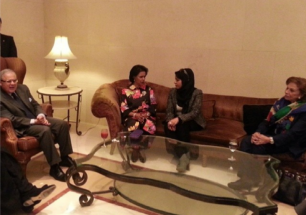 Her Excellency was with Egyptian Minister of Tourism, President of Huwair Association; HE Sheikha Fariha Al Ahmad Al Jaber Al Sabah and President of the National Council for Women; Ambassador Mervat in Egypt on December 29, 2013